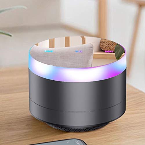 PPBB Bluetooth inalámbrico pequeño Audio Mini portátil pequeño hogar con sobrepeso subwoofer Coche Tarjeta portátil de Alto Volumen Envolvente 3D Sonido móvil para Exteriores,Negro