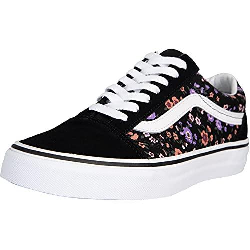 Vans Old Skool Floral Sneaker (Black/White, Numeric_39)