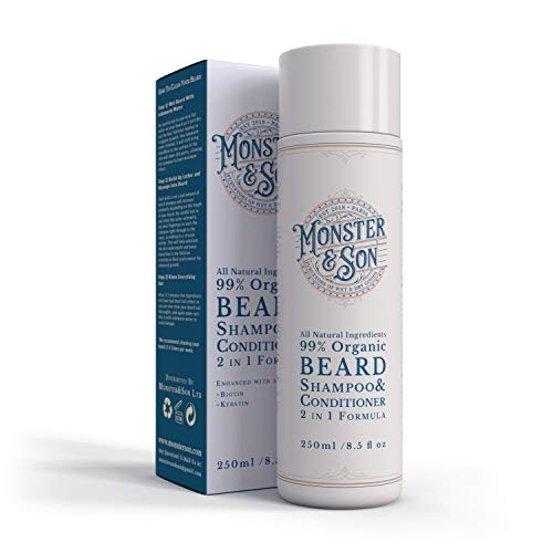 Organic 2in1 Beard Shampoo and Conditioner by Monster&Son