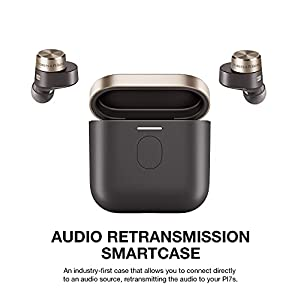 Bowers & Wilkins PI7 in-Ear True Wireless Headphones with 6 Built-in Mics, Bluetooth 5.0 with Qualcomm aptX & Dual Hybrid Drivers, Advanced Noise Cancellation, B&W Android/iOS App, Wireless Charging