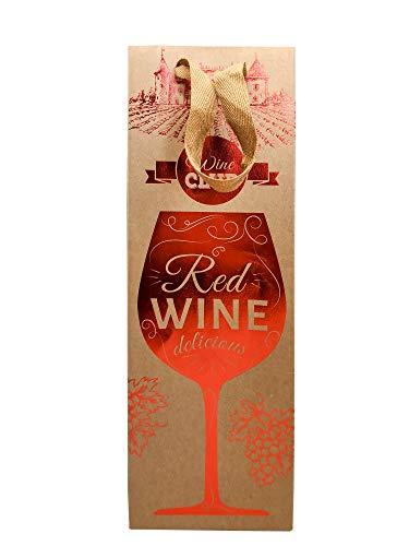 vin bouquet Sacchetto di cartoncino per Vino, Cartone, Multicolore,