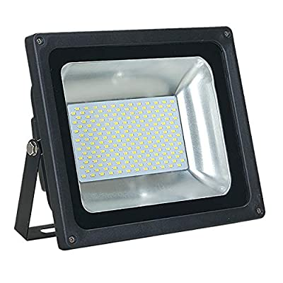 ASD 100W LED Flood Light Outdoor - 4000K Bright White 7783lm SMD Super Bright Security Lights, Waterproof Flood Light for Garage Yard Garden - UL Listed & DLC - Black