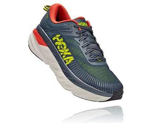 HOKA ONE ONE Zapatos de Correr Bondi 7 Turbulence/Chili Hombre, (Turbulencia/Chile), 43 EU