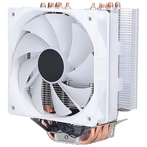Cooler Master CPU Enfriador de aire, 6 tubos de calor, rodamiento hidráulico, disipación de calor silenciosa, ventilador de refrigeración de computadora de 1300 RPM para LGA775 / 1150/1151/1155/1156/1