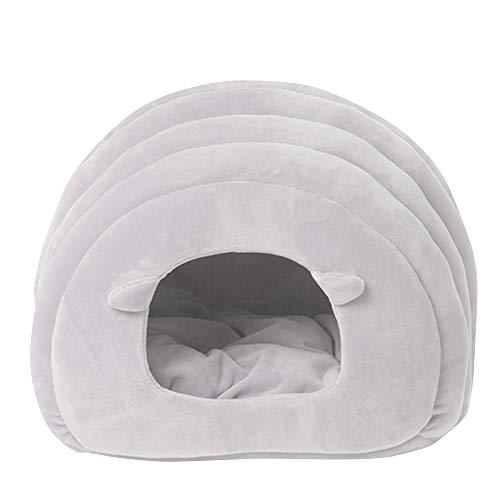 thematys Cesta para Mascotas de Tela de Felpa 2 diseños Diferentes - casa Lavable y Resistente a los arañazos para Perros y Gatos (Style 2)