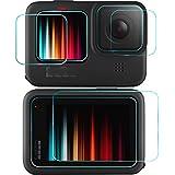 【blackbeetle】GoPro HERO 9 BLACK フィルム ゴープロ9 強化ガラスフィルム 液晶保護フィルム(背面タッチスクリーン+レンズ+前面スクリーンフィルム) 6枚入り2セット アクセサリー