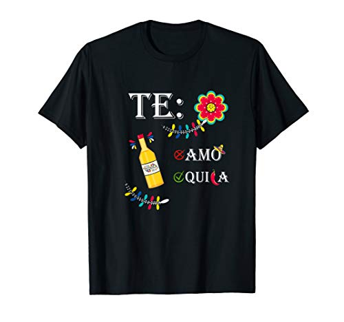 Teamo Tequila | lustiges Mexiko Party Geschenk Chilischote T-Shirt