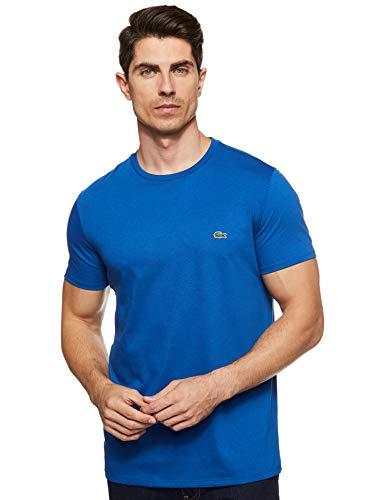 Lacoste Men's Short Sleeve Crew Neck Pima Cotton Jersey T-shirt, Electric, XL