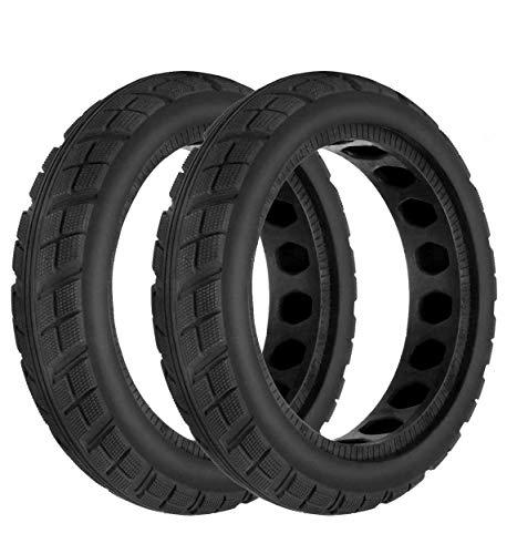 HORO.ES Repuesto Neumático Rueda Mejorada 8,5' sólido para Scooter Eléctrico Xiaomi Scooter M365 - Negro (Neu x2)