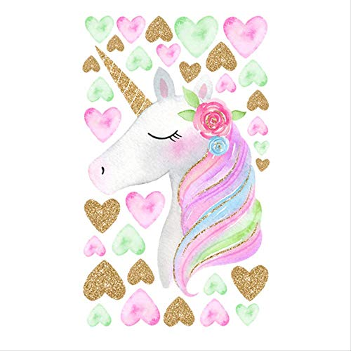 Room Decor Cartoon Unicorns Flower Wall Stickers DIY Stars schattige bloemen Animals Vinyl Home muur Decals Kids Room Girls
