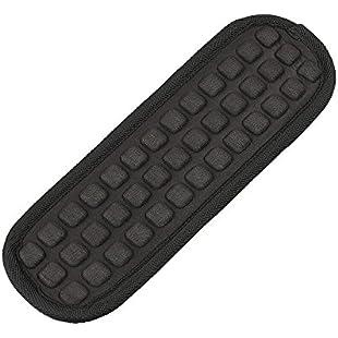 Detachable Shoulder Strap Pad Soft Air Cushion Replacement Pad for Straps(Black-1Pcs)