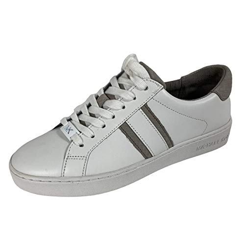 D18 Sneakers Donna MICHAEL KORS White Leather Shoes Women [35.5]