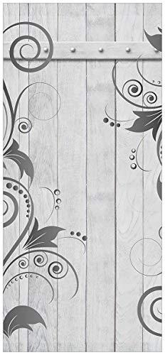 posterdepot ktt0311a deurbehang deurposter grijze houten deur met patroon afmeting 93 x 205 cm