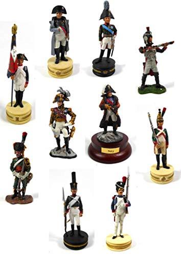 - Lote de 10 Figuras Soldados 1/32 60mm Empire Napoleon Dragon GRANADIER Imperial Guard del Prado (LS15)