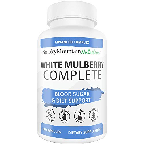 White Mulberry Leaf Extract Complex 1000mg (60 Capsules) Plus Garcinia Cambogia, Green Coffee Bean, Cinnamon, African Mango Extract - Supports Blood Sugar Control, Weight Loss, Appetite Suppressant