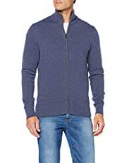 Tommy Hilfiger Pima Cotton Cashmere Zip Through Cardigan Uomo