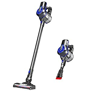 Cordless Vacuum Cleaner, 20KPa Powerful Suction 4 in1 Stick Vacuum Cleaner with Wall Mount, 200W Brushless Motor Bagless Upright Vacuum Cleaner, Replaceable Battery Design, Lightweight&Lower Noise