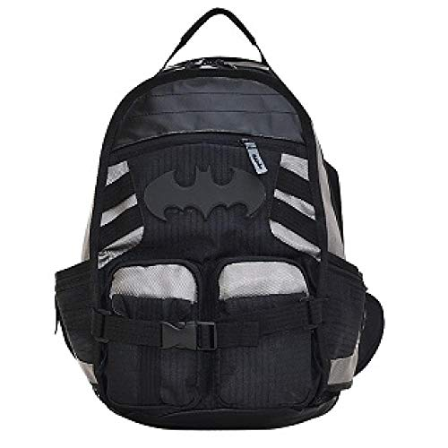 Haodong Mochila Batman Daily Laptop Bag Teenager Schoolbag Boys Girls Cosplay Mochila Mochila Hombres Mujeres Bolsa de Viaje-Hombre murciélago