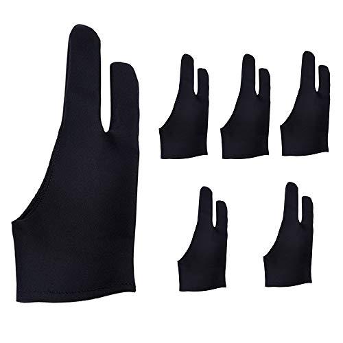Eyech Set of 6 Two Finger Artist Gloves for Tablet Artist...