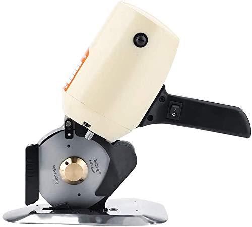 FTVOGUE Taglierina elettrica del Panno TY-100, tagliatrice ad Alta velocità Rotonda Automatica del Tessuto per Lana di Cuoio del Multi Panno 220V(EU)