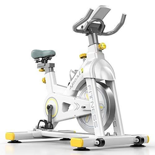 WWAVB Bicicleta EstáTica, Bicicleta Estacionaria Profesional, Entrenador De Ejercicios para El Hogar, Volante De Inercia De 6 Kg, Carga MáXima De 150 Kg