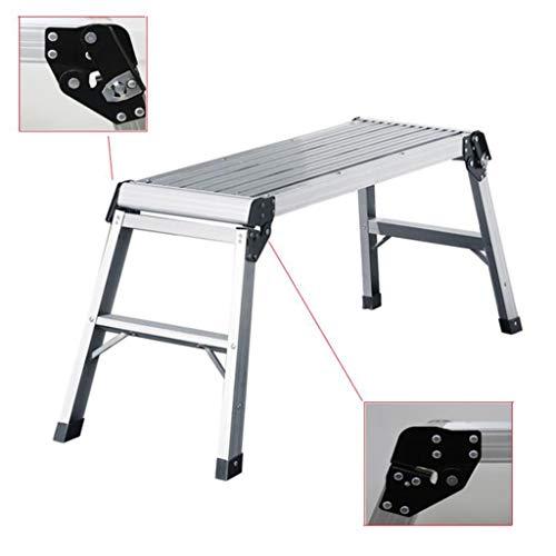 Vouwtrap, multifunctioneel werkplatform ladder klap aluminium stap-up bank ladder 78 * 30 * 50 cm
