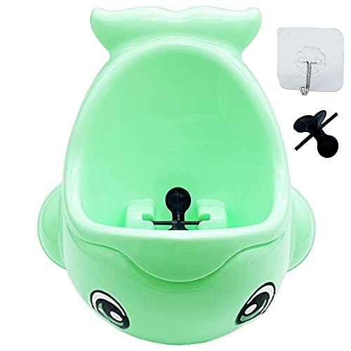 Whale Potty Training Urinal for Boys,Toilet Urinals Pee Trainer with Funny Aiming Target for Toddler Boy