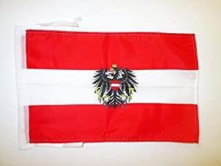 AZ FLAG Austria with Eagle Flag 18'' x 12'' Cords - Austrian Coat of arms Small Flags 30 x 45cm - Banner 18x12 in