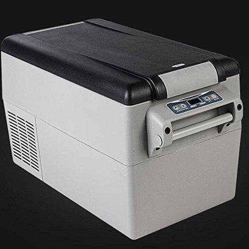 SL&BX autokoelkast, ijsgrijs, compressor, dubbele gebruiksdoeleinden, reizen, L 32 l, mini-koelkast, draagbaar voor thuis, kantoor, auto of boot