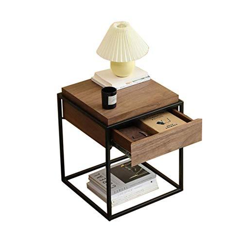 DHTOMC Coffee Table. Small Round Table. Small Square Tabl -Tables Schubladen Nachttisch, Sofa-Seitenschrank mit Schubladen, Sockel-Tische für Nacht/Flur/Flur/Wohnzimmer, 2 Farben Couchtisch