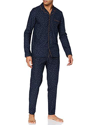 Seidensticker Herren Men Pyjama Long Pyjamaset, dunkelblau, 056