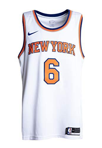Nike Mens New York Knicks Kristaps Porzingis #6 White Swingman Jersey 864435 100 (XX-Large)