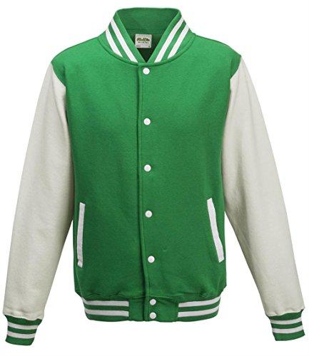 AWDis Herren Trainingsjacke mehrfarbig grün /weiße Ärmel Small
