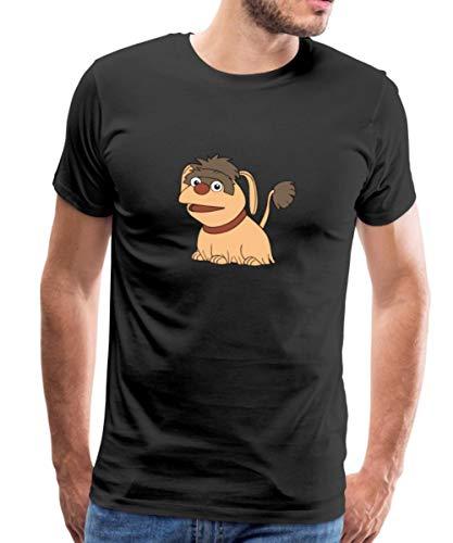 Sandmännchen Und Seine Freunde Hund Moppi Männer Premium T-Shirt, M, Schwarz