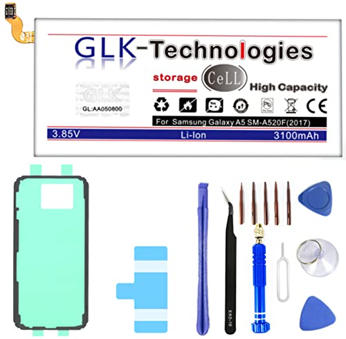 Original GLK-Technologies® High Power   Akku passend kompatibel mit Samsung Galaxy A5 2017 SM-A520F EB-BA500ABE   3100 mAh // Reparaturset Werkzeug Set 2021 B.j