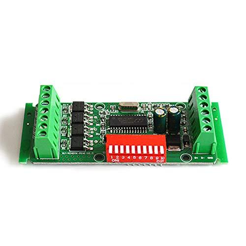 4 Kanal DMX RGBW Decoder, DC9-24V 4A RGBW RGB Streifen Licht Controller DMX 512 Dimmer Decoder Treiber für LED Strip Module, Shellless