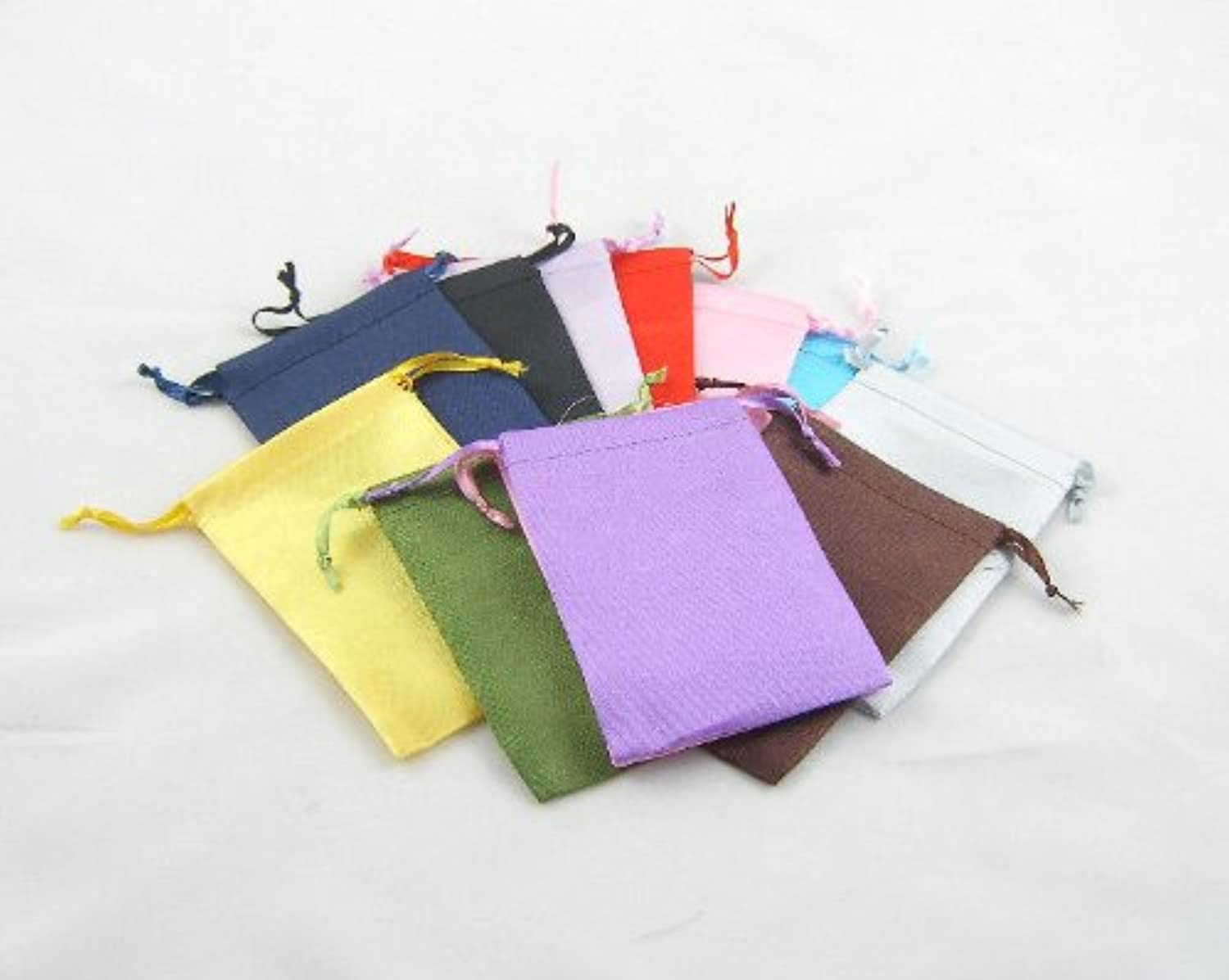 12 12 12 Assorted Colour Silky Drawstring Pouches-130mmx100mm-bd1234-from £0.25 each B004WKII9E | Geeignet für Farbe