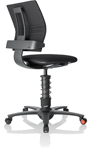 3Dee Active-Office-Chair, Stoffmuster:Schwarz