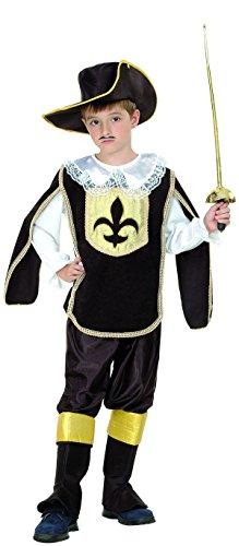 P'TIT CLOWN - 98114 - Costume enfant luxe mousquetaire Noir - Taille M