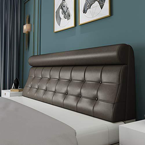 Testiera per letto, cuscino per schienale, in pelle PU, cuscino per divani lounge o mobili in pallet, lavabile Noheadboard185cm(71') 4