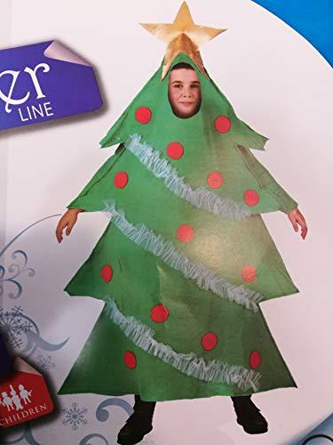 Atosa-96360 Atosa-96360-Disfraz Árbol niño Infantil-Talla Navidad, Color Verde, 7 a 9 años (96360)