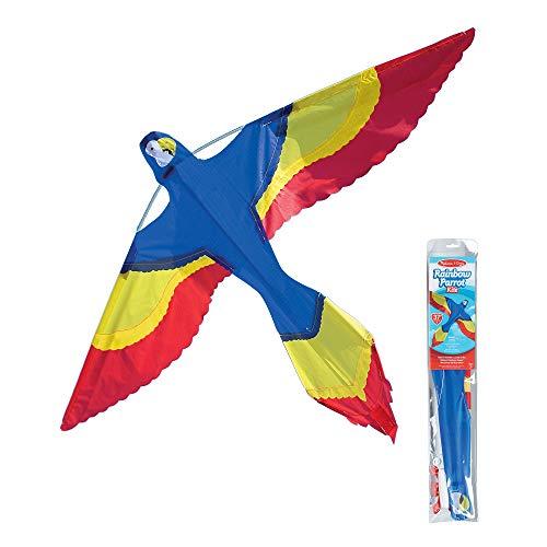 Melissa & Doug Rainbow Parrot Single Line Shaped Kite