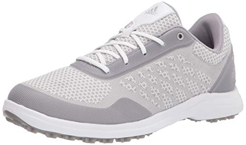 adidas womens Fx4063 Golf Shoe, Ftwr White/ Glory Grey/ Silver Metallic, 7 US