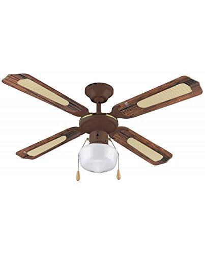 VINCO Ventilatore da soffitto art. 70919 3 velocità 4 pale 1 luce Invertitore di rotazione Diametro: 105 cm