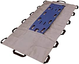 LINE2design Emergency EMS Patient Mover Portable Transport Unit, Roll Stretcher-Gray 14 Handles-1500 lbs, Blue Backboard NOT Included.