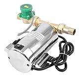 QWERTOUY Bomba de 90W 110V Agua Boost Bomba automática de Hogares de Acero Inoxidable Auto Bomba de Carga para Bomba de Carga de Agua del Grifo de la tubería