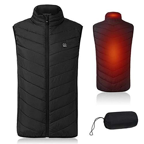 ZYIKX Unisex Warming Heated Vest Winter Heated Jacket Vest, Heated Vest Winter Lightweight Heating Coat Electric Heated Jackets XL