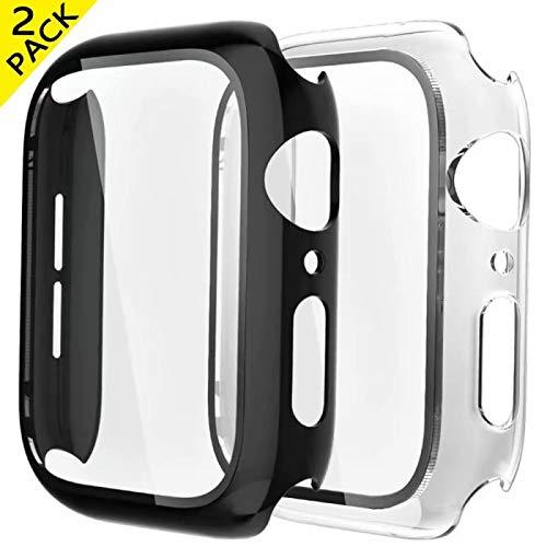 Fengyiyuda [2 Unidades Funda Compatible con Apple Watch 38mm 40mm 42mm 44mm,Estuche con TPU Protector de Pantalla,Caja Protector Anti-Choque Anti-arañazos Caso para IWatch Series 5/4/3/2/1