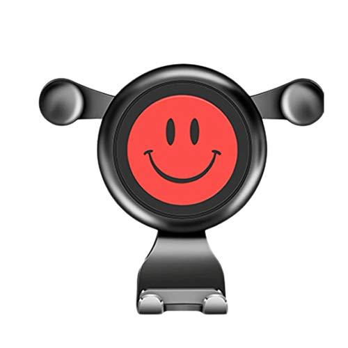 Quaanti 360 grados giratorio creativo cara sonriente Gravity coche soporte de ventilación soporte para teléfono móvil GPS
