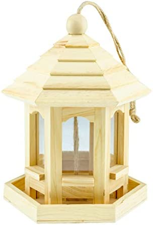 Wooden Hanging Decorative Bird Feeder House Ideal for Outdoor Decoration Home Patio Yard Garden product image